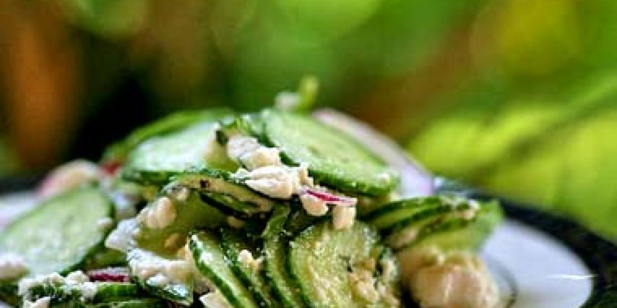 Persian Cucumber Salad with Mint and Feta